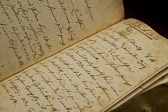 Alte Handschreiben Lizenzfreies Stockbild