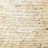 Alte Handschrift von 1915 Lizenzfreie Stockfotos