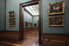 Alte Hauptabbildung-Galerie in Dresden lizenzfreie stockbilder