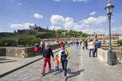 Alte Hauptbrücke Würzburg, Deutschland Lizenzfreie Stockbilder