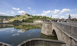 Alte Hauptbrücke Würzburg, Deutschland Lizenzfreies Stockfoto
