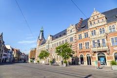 Alte Hauptpost, construção principal histórica da estação de correios em Erfurt Imagens de Stock