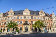 Alte Hauptpost, costruzione storica della posta centrale a Erfurt Immagini Stock Libere da Diritti