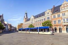 Alte Hauptpost, de historische Hoofdpostkantoorbouw in Erfurt Royalty-vrije Stock Afbeelding