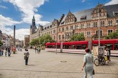 Alte Hauptpost, historisk huvudsaklig stolpe - kontorsbyggnad i Erfurt Royaltyfri Fotografi