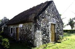 Alte Haus-Ruinen Batanes Philippinen Ivatan Lizenzfreie Stockfotos