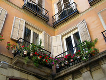 Alte Hausfenster Stockfoto