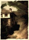 alte Hausmalerei lizenzfreie abbildung