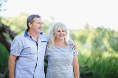 Alte Heirat, die sich umfasst Lizenzfreies Stockbild