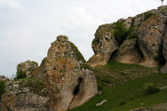 Alte hercinic Berge Stockfoto