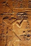 Alte Hieroglyphen Stockbild
