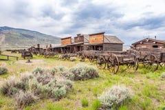 Alte Hinterstadt in Cody - Wyoming Stockbilder