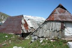 Alte Hirtenhütten Lizenzfreies Stockbild