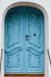 alte historische blaue Tür Lizenzfreies Stockbild