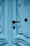 alte historische blaue Tür Stockfotos