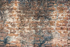 Alte historische Laterite-Wand, Hintergrund-Beschaffenheit Lizenzfreies Stockbild
