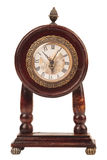 Alte hölzerne Uhr. Stockfoto