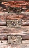 Alte Holzbalkenwand Beschaffenheit Hintergrund stockfoto