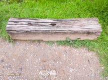 Alte Holzbank von der Lagerschwelle Lizenzfreie Stockfotos