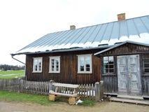 Alte Holzhäuser, Litauen Lizenzfreie Stockfotos