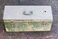Alte Holzkiste für Munition Lizenzfreie Stockfotos