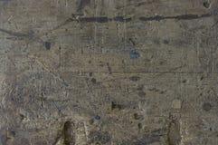 Alte Holzoberfläche mit Schäden und Kratzern Stockfoto