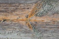 Alte Holzoberfläche mit Sprüngen und Schalenfarbe, Beschaffenheit, Hintergrund Lizenzfreies Stockbild