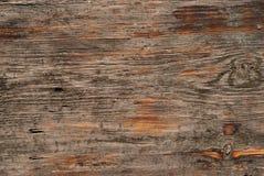Alte Holzoberfläche mit Steinschlägen Lizenzfreie Stockbilder