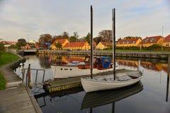 Alte Holzschiffe in Dänemark Stockbilder