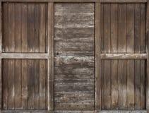 Alte Holztür. Stockfoto
