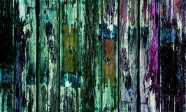 Alte Holztür mit mehrfarbiger Farbe lizenzfreies stockfoto
