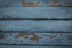 Alte horizontale blaue Bretter, Hintergrund, Beschaffenheit Lizenzfreie Stockbilder