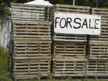 Alte Hummer-Fallen für Verkauf Lizenzfreies Stockbild
