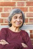 Alte indische Frau stockfotos