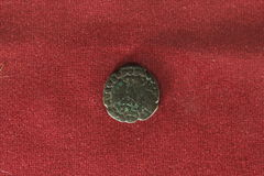 Alte indische Münze Stockfotos