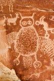 Alte indische Petroglyphe Lizenzfreie Stockbilder