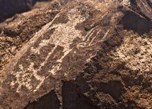 Alte indische Petroglyphe Stockfoto