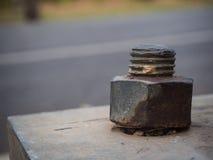 Alte industrielle Schrauben-Nuss und Bolzen Lizenzfreies Stockfoto