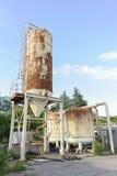 Alte industrielle Silos Lizenzfreies Stockbild