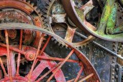 Alte Industriemaschinen-Räder stockfoto