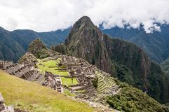 Alte Inkastadt Machu Picchu lizenzfreie stockbilder