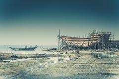 Alte iranische Werft Stockbild
