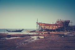Alte iranische Werft Stockbilder