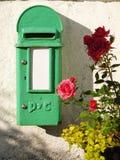 Alte irische Mailbox Lizenzfreie Stockbilder