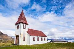 Alte isländische Kirche Stockfotografie