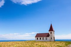 Alte isländische Kirche Lizenzfreies Stockfoto