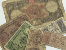 Alte italienische Lira Lizenzfreies Stockfoto