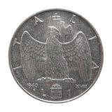 Alte italienische Lira lokalisiert über Weiß Stockbilder