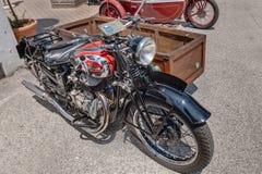 Alte italienische Motorrad Sertums-Seite Merci 500 cm (1941) Lizenzfreie Stockfotografie
