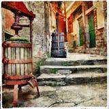 Alte italienische Straßen Stockfotografie